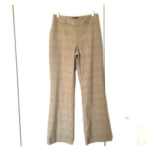 Banana Republic plaid wool stretch pants.